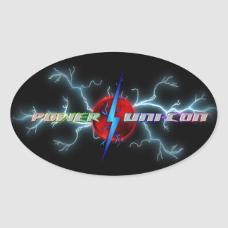 Power Uni-Con Oval Stickers