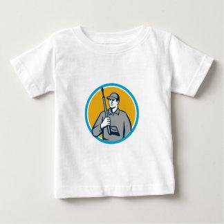 Power Washer Pressure Washing Gun Circle Retro Baby T-Shirt