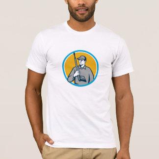 Power Washer Pressure Washing Gun Circle Retro T-Shirt