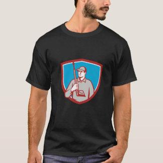 Power Washer Pressure Washing Gun Crest Retro T-Shirt