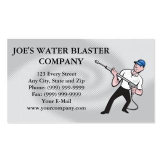 Power Washing Pressure Water Blaster Worker Business Card Templates