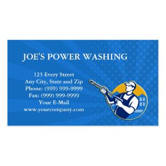 Power Washing Pressure Water Blaster Worker Business Cards