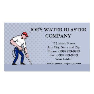 Power Washing Pressure Water Blaster Worker Business Card
