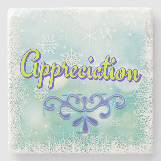 "Power Word ""Appreciation"" Beautiful Marble Coaster Stone Coaster"