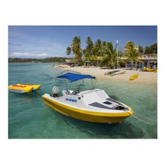 Powerboat and banana boat postcard