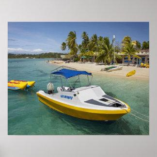 Powerboat and banana boat poster