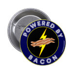 Powered By Bacon 6 Cm Round Badge