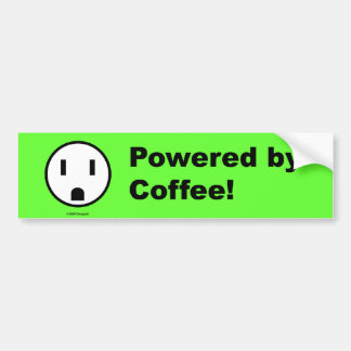 Powered By Coffee - Bumper Sticker