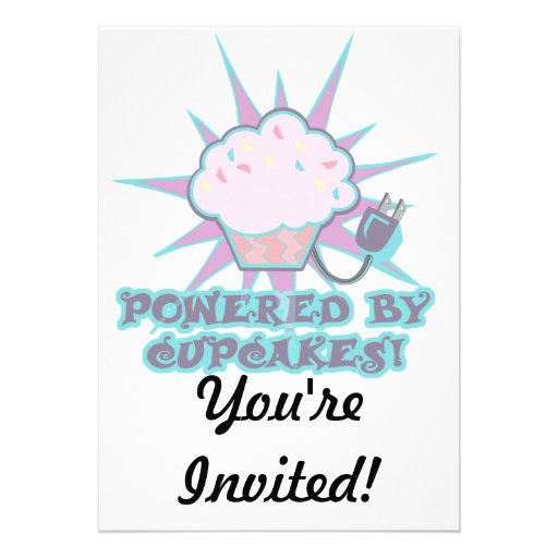 Powered By Cupcakes Invite