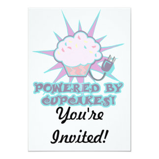 Powered By Cupcakes 13 Cm X 18 Cm Invitation Card