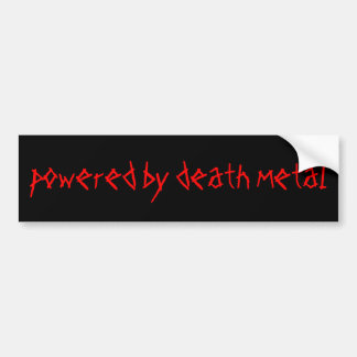 powered by death metal bumper sticker