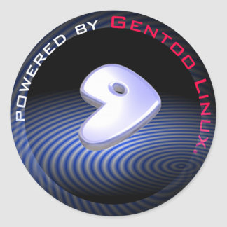 POWERED BY Gentoo Linux Classic Round Sticker
