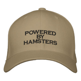 POWERED BY HAMSTERS - hat Embroidered Baseball Cap