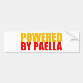 Powered by Paella Bumper Sticker