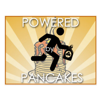 Powered by Pancakes (hygge power!) Postcard