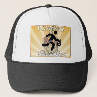 Powered by Pancakes Sunrays Logo - Hygge Trucker Hat