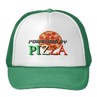 Powered By Pizza Funny Quote Cap