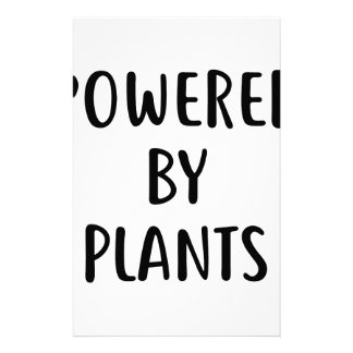 Powered By Plants Stationery