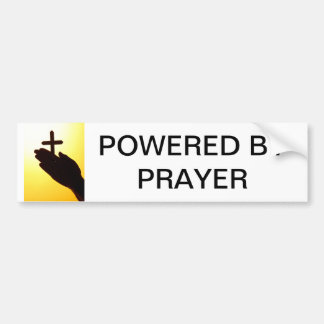 Powered by Prayer bumper stickers