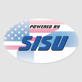 Powered By Sisu Oval Sticker
