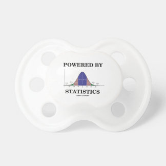 Powered By Statistics (Bell Curve Humor) Baby Pacifiers