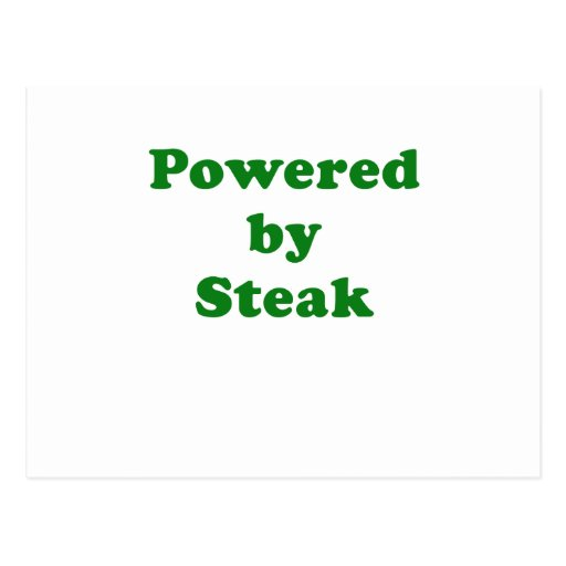 Powered by Steak Postcard