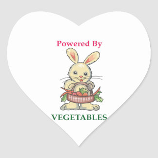POWERED BY VEGETABLES HEART STICKERS