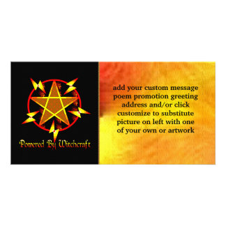 Powered By Witchcraft Personalised Photo Card