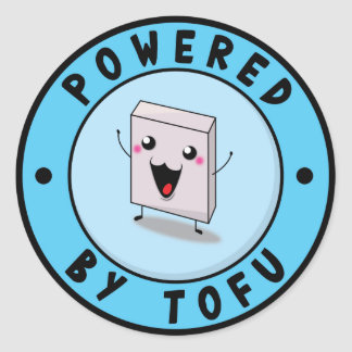 Powered village Tofu Classic Round Sticker