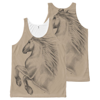 Powerful Andalusian Horse All-Over Print Tank Top