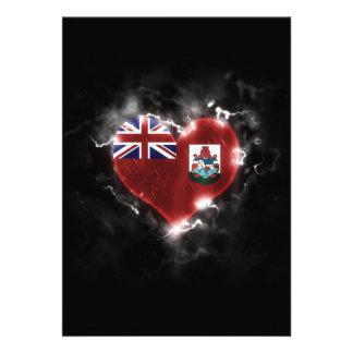 Powerful Bermuda 13 Cm X 18 Cm Invitation Card