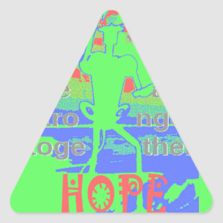 Powerful ECO USA Hillary Hope We Are Stronger Toge Triangle Sticker