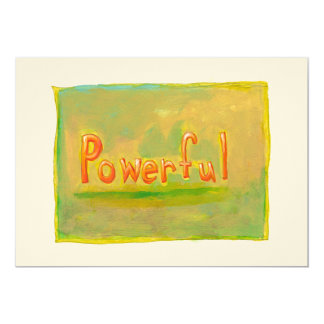 Powerful fun word painting art motivational card