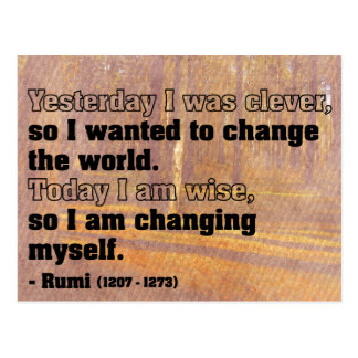 Powerful Quote on Change Postcard