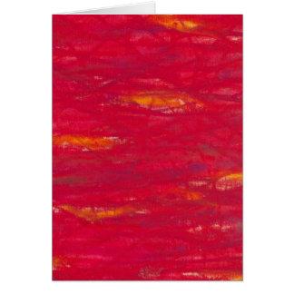 powerful red - knallrot card