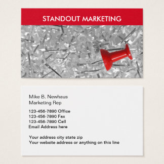 Powerful Sales And Marketing Business Card