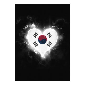 Powerful South Korea 13 Cm X 18 Cm Invitation Card