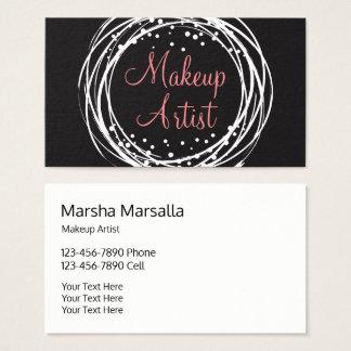 Powerful Stylish Makeup Artist Business Card