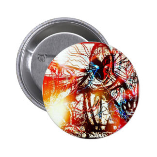 Powerful Wizard 6 Cm Round Badge
