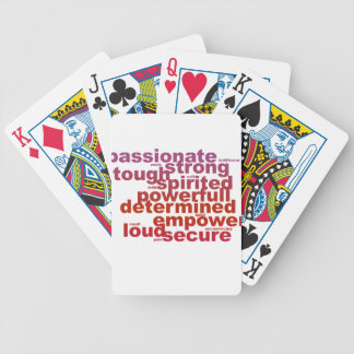 Powerfull letters bicycle playing cards