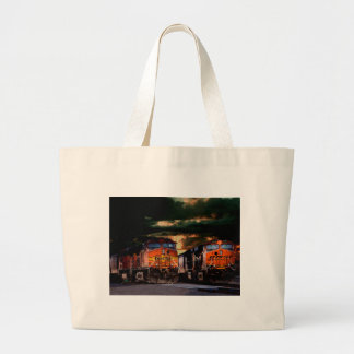 Powerfull locomotives ready to haul large tote bag