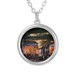Powerfull locomotives ready to haul silver plated necklace