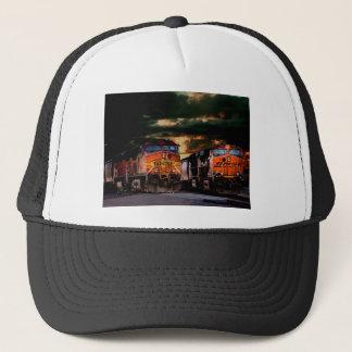 Powerfull locomotives ready to haul trucker hat