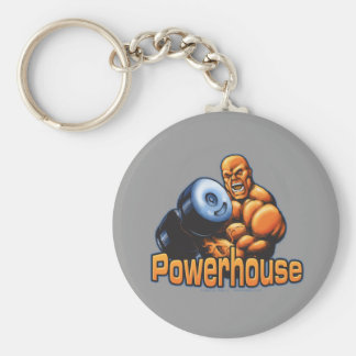 Powerhouse Curl Basic Round Button Key Ring