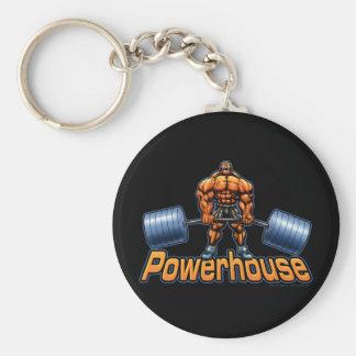 Powerhouse Deadlift Basic Round Button Key Ring