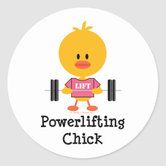 Powerlifting Chick Stickers