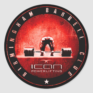 powerlifting classic round sticker
