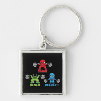 Powerlifting Kawaii - Squat, Bench Press, Deadlift Key Ring