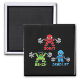 Powerlifting Kawaii - Squat, Bench Press, Deadlift Magnet