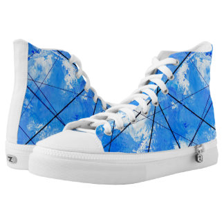 Powerlines High Tops Artist Designed Sneakers